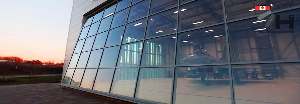 canada british aerospace hydroswing hydraulic doors glass door
