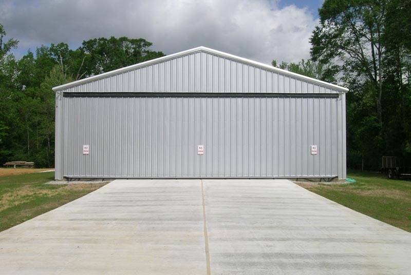 hydroswing aircraft hangar doors home private aircraft