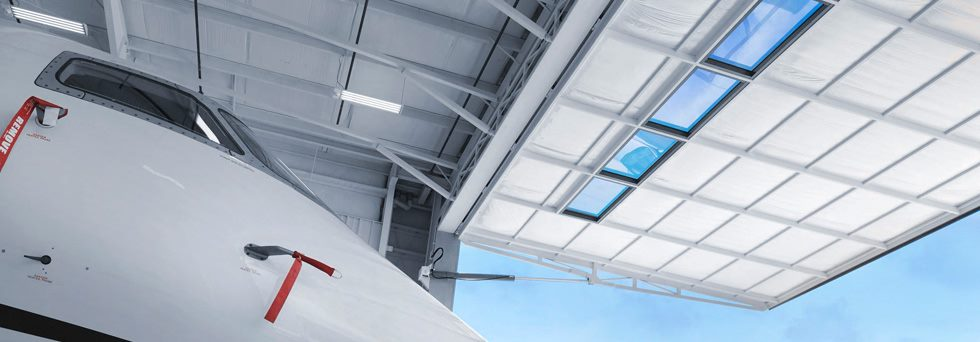 hydroswing aviation large hangar door premier jet
