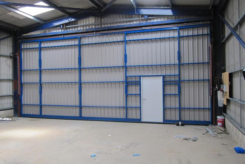 hydroswing uk industrial shed door