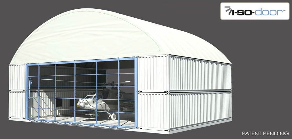 Hydroswing Apache ISO Shipping Container Helicopter Shelter