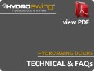 Hydroswing Doors Technical FAQs