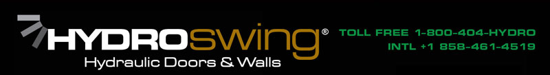 hydroswing hydraulic doors and walls