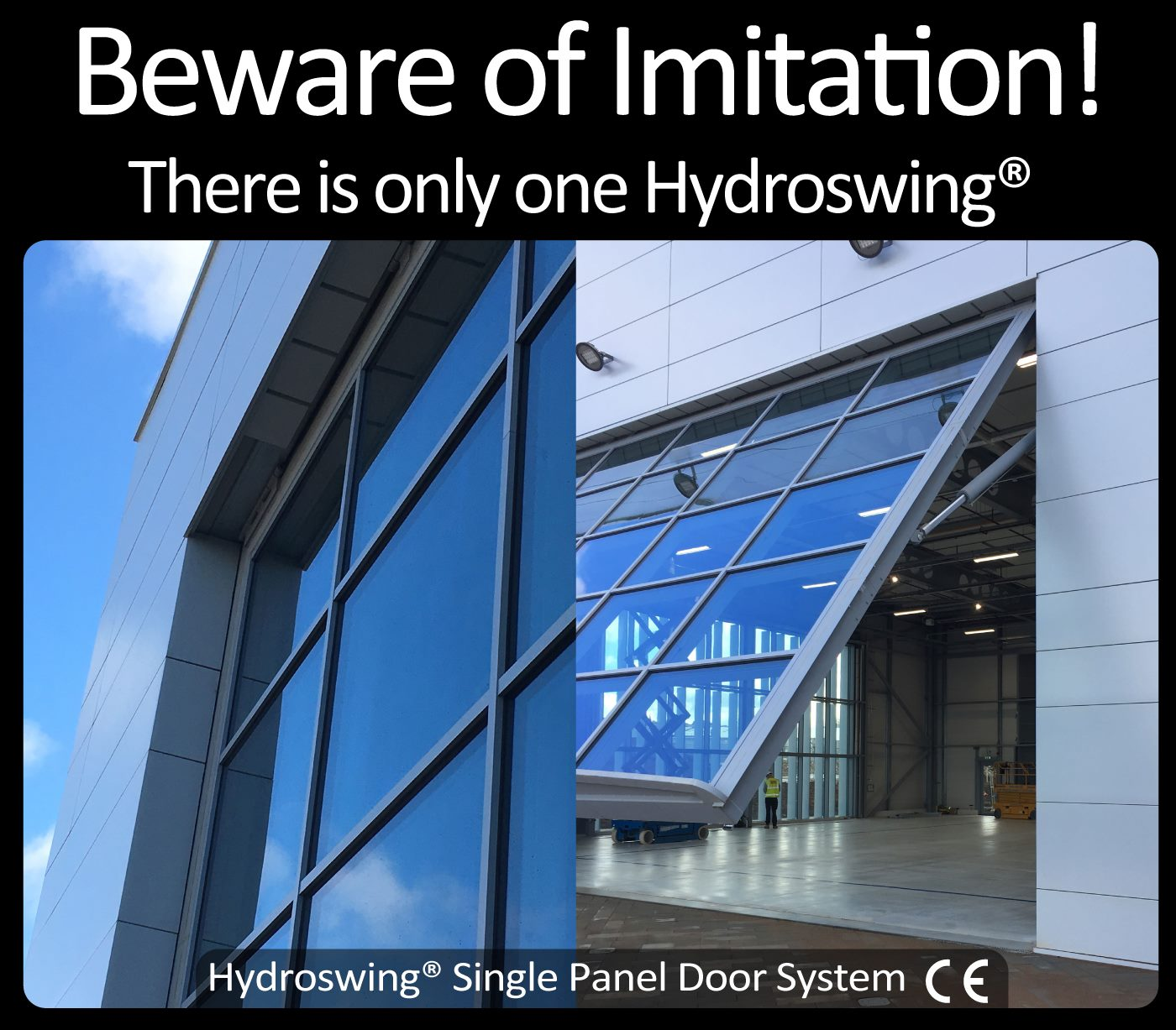 beware of imitation there is only one hydroswing hydraulic door