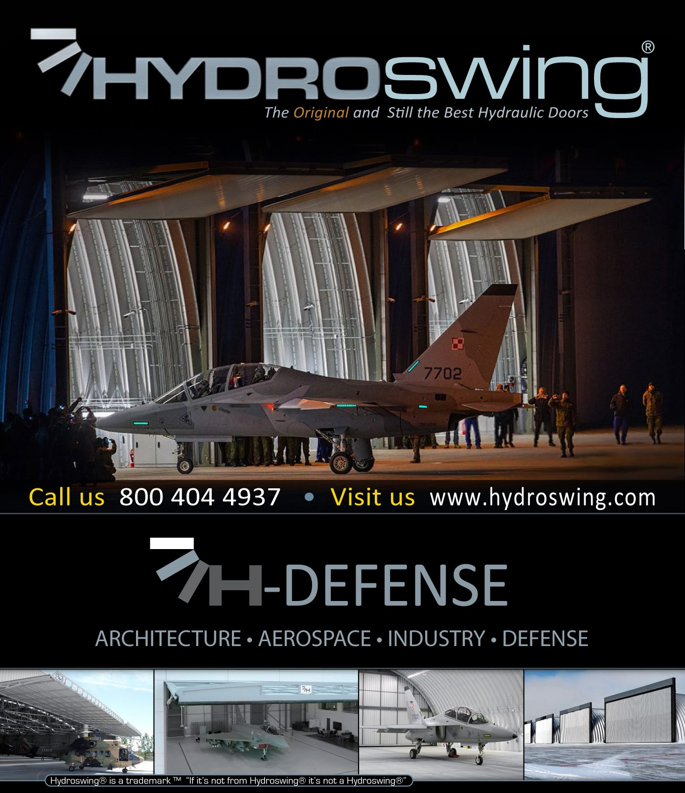 hydroswing hydraulic doors quanset hut aerospace defense industry