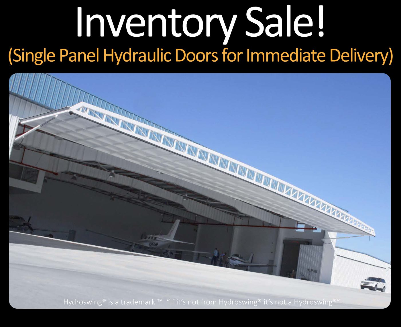 hydroswing inventory sale single panel hydraulic doors for immediate delivery