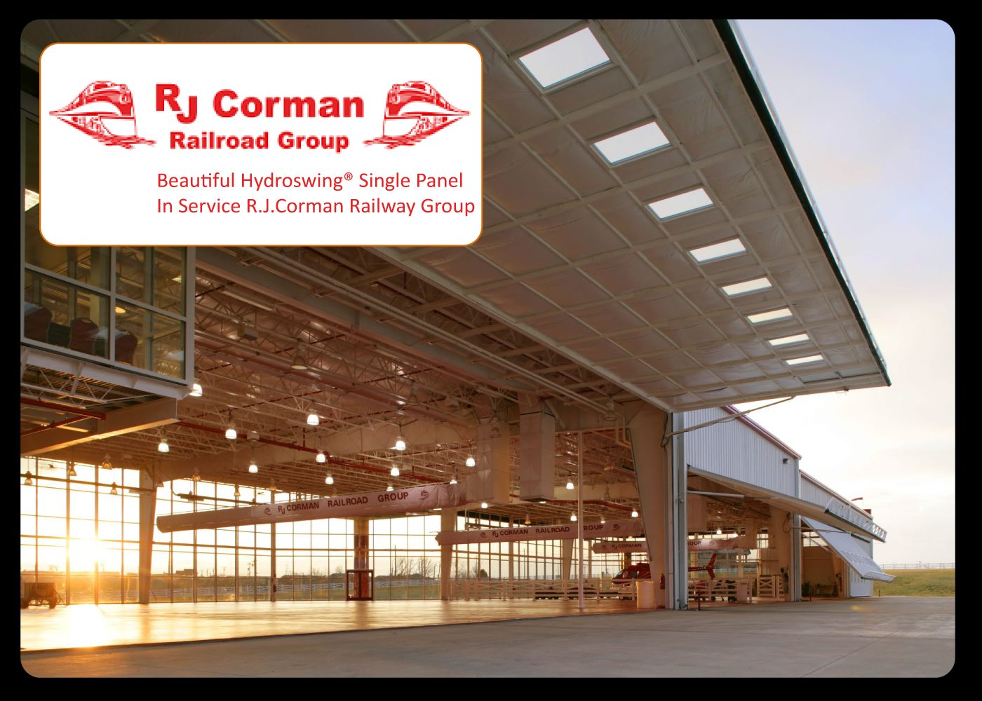 rj corman railroad group helicopter hangar