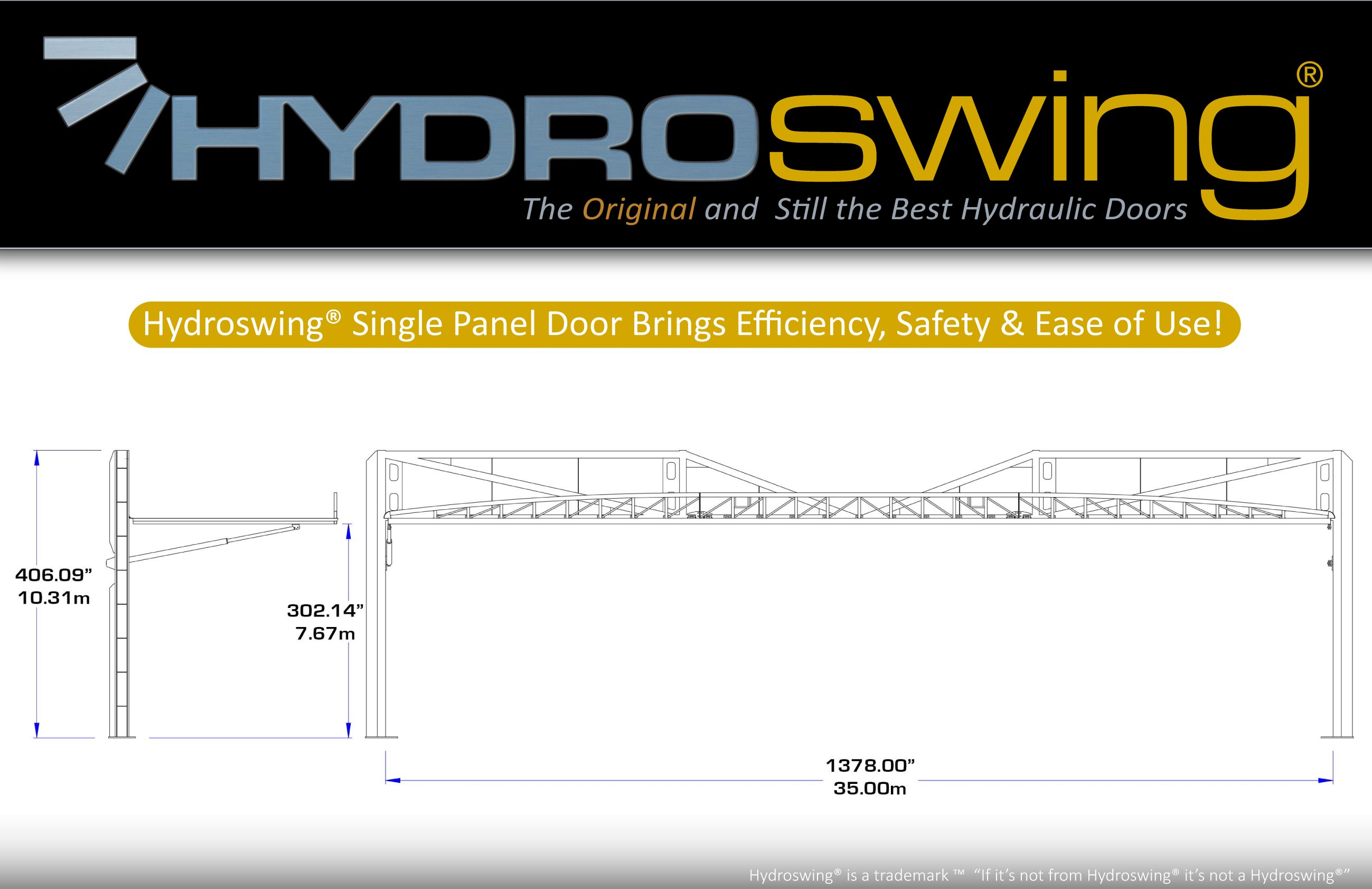 for sale large hydraulic doors by hydroswing available now