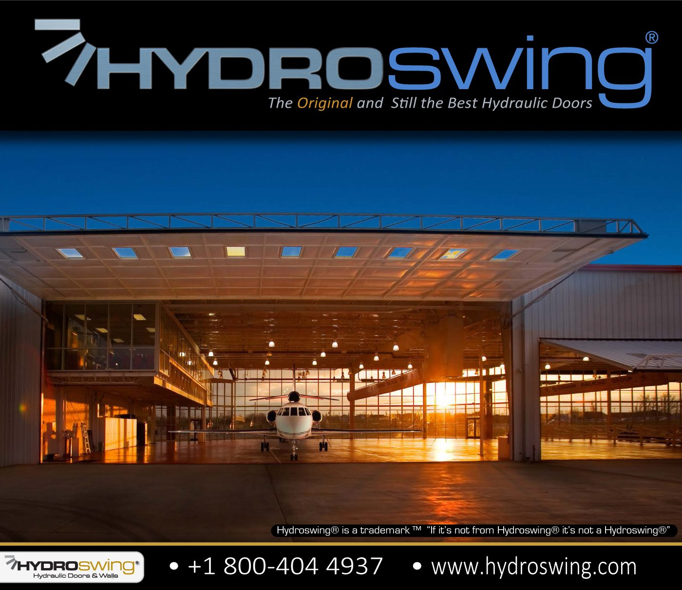 hydraulic hangar door for private aviation fly in hangar