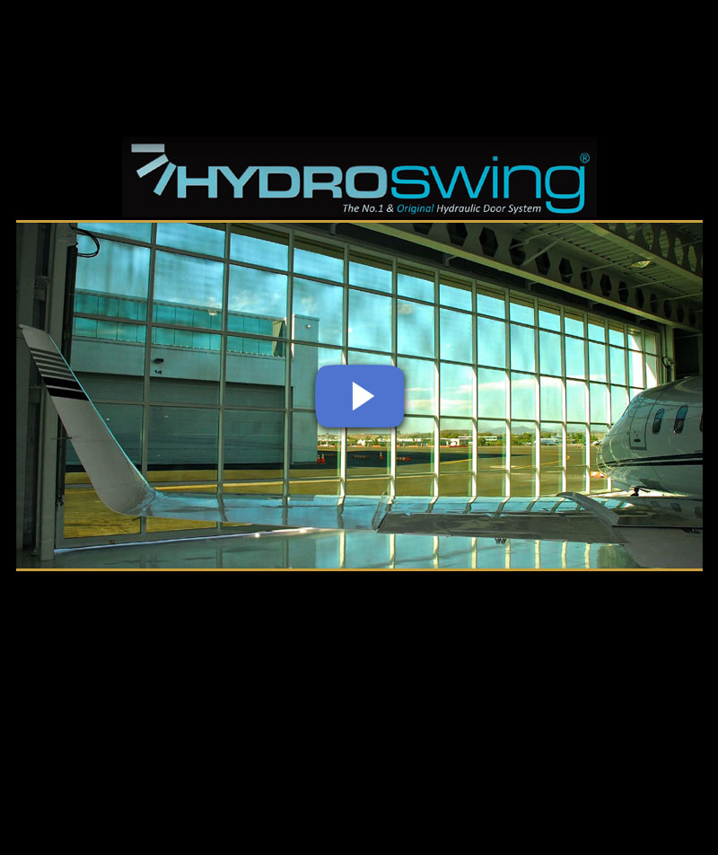 hydroswing glass hydraulic door video palomar airport