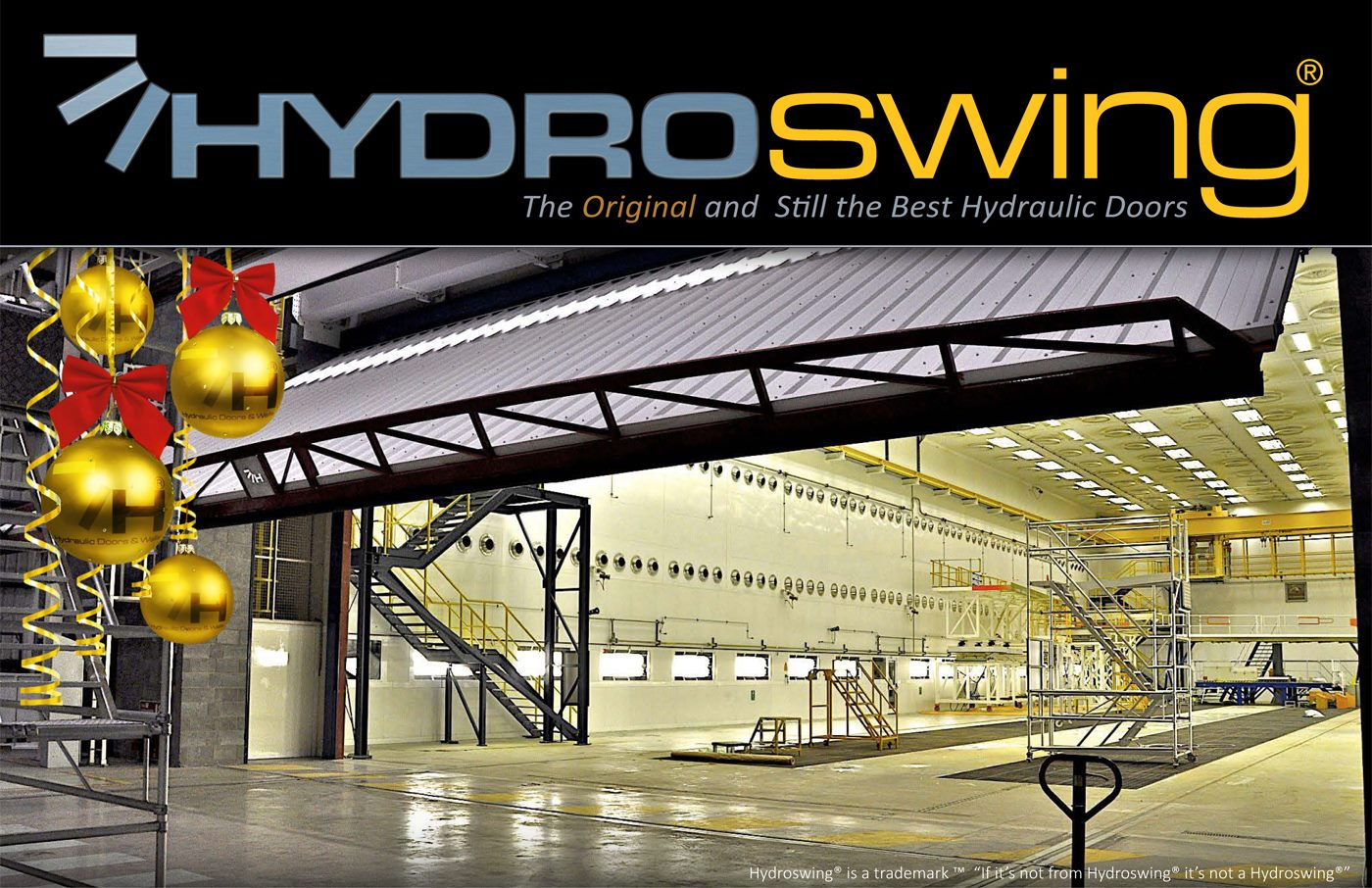 hydroswing happy holidays commercial and industrial doors