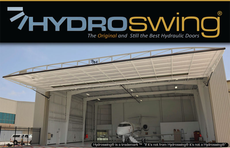 hydroswing hydraulic door equiped with global resources hydraulics