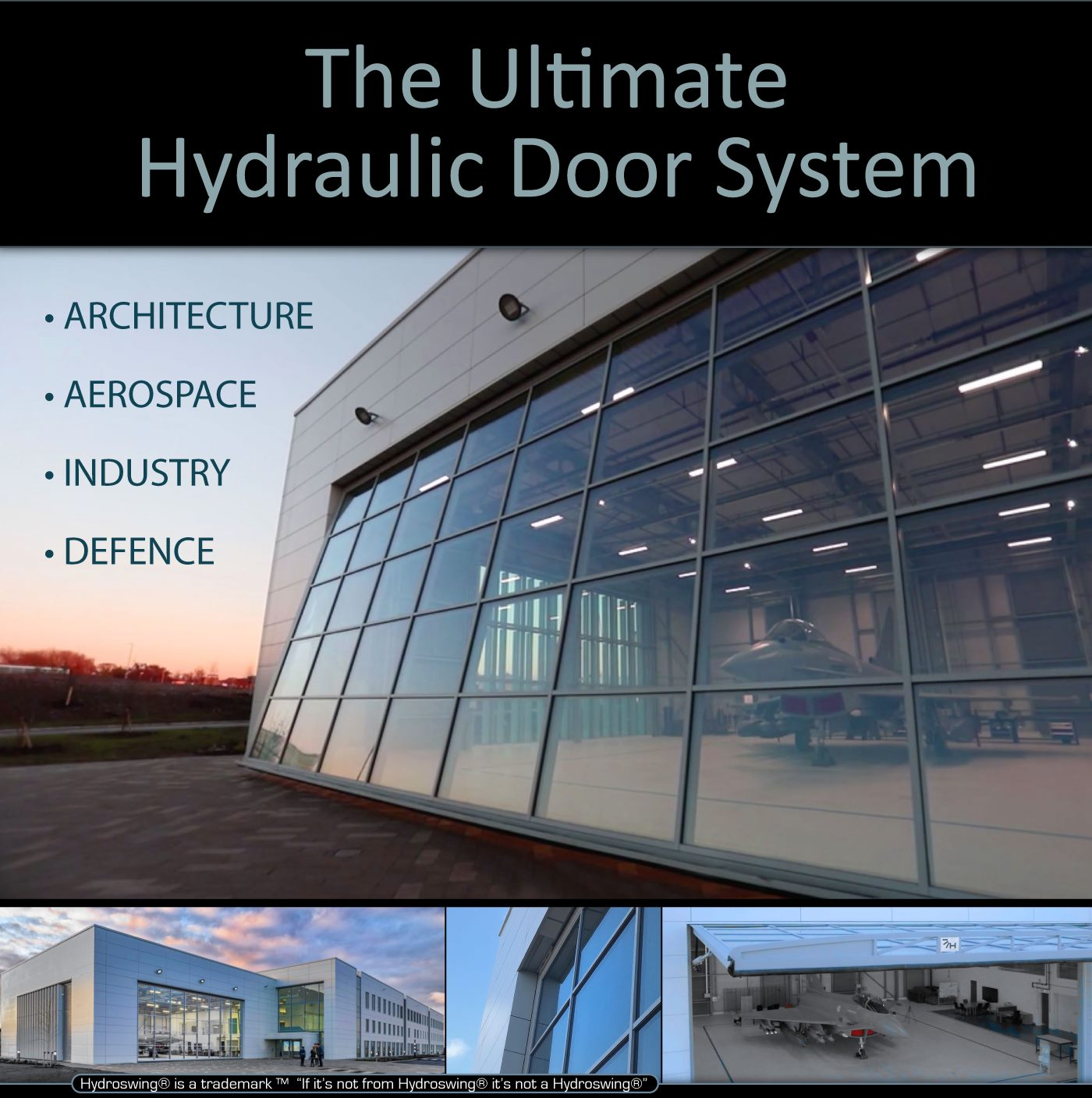 hydroswing hydraulic doors for architecture aerospace industry and defense