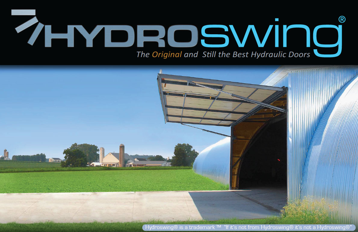 hydroswing quonset building hydraulic door
