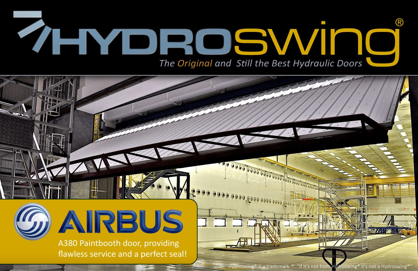 hydroswing uk industrial doors airbus paint booth