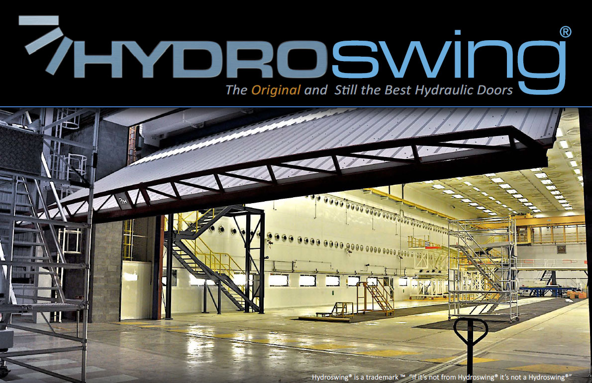 large hydroswing hydraulic industrial door