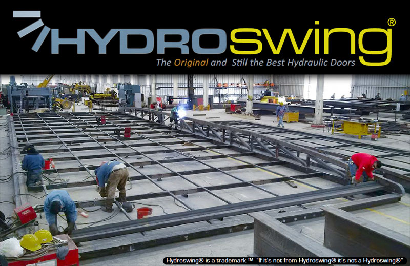 manufacturing the strong hydroswing hydraulic door welding facility