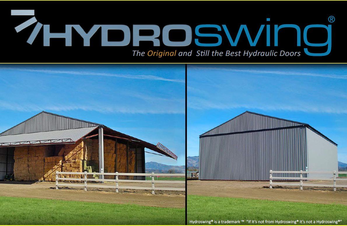 sustainable farming with hydraulic doors